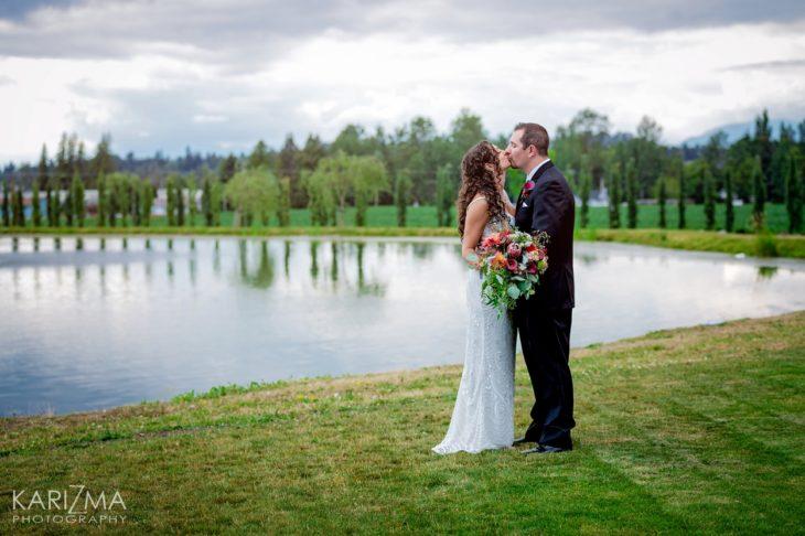 Villa di Fonti wedding Surrey bride and groom