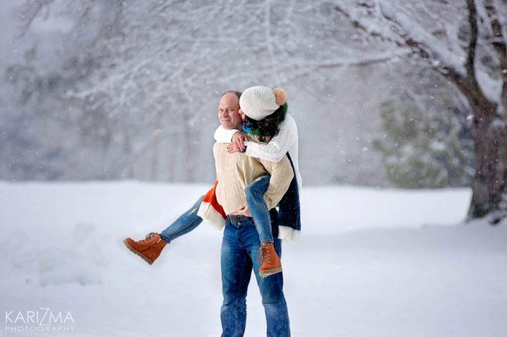 Snow Engagement Vancouver Queen Elizabeth Park