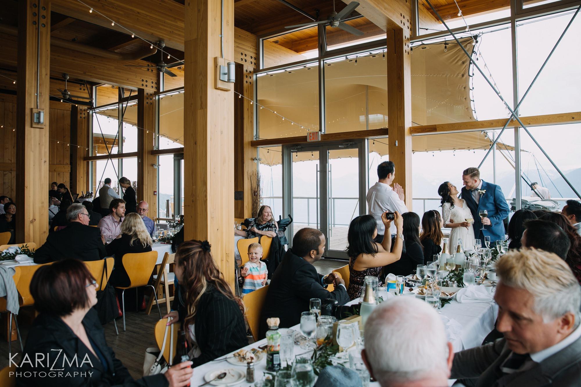 Sea to Sky Gondola Wedding reception