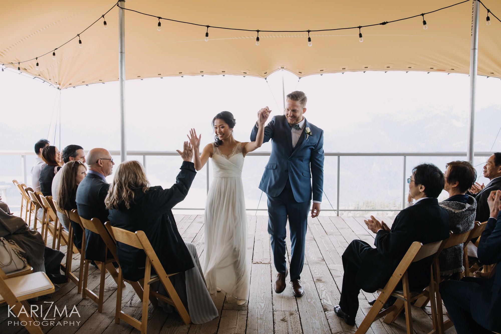Sea to Sky Gondola Wedding Summit Lodge Viewing Deck