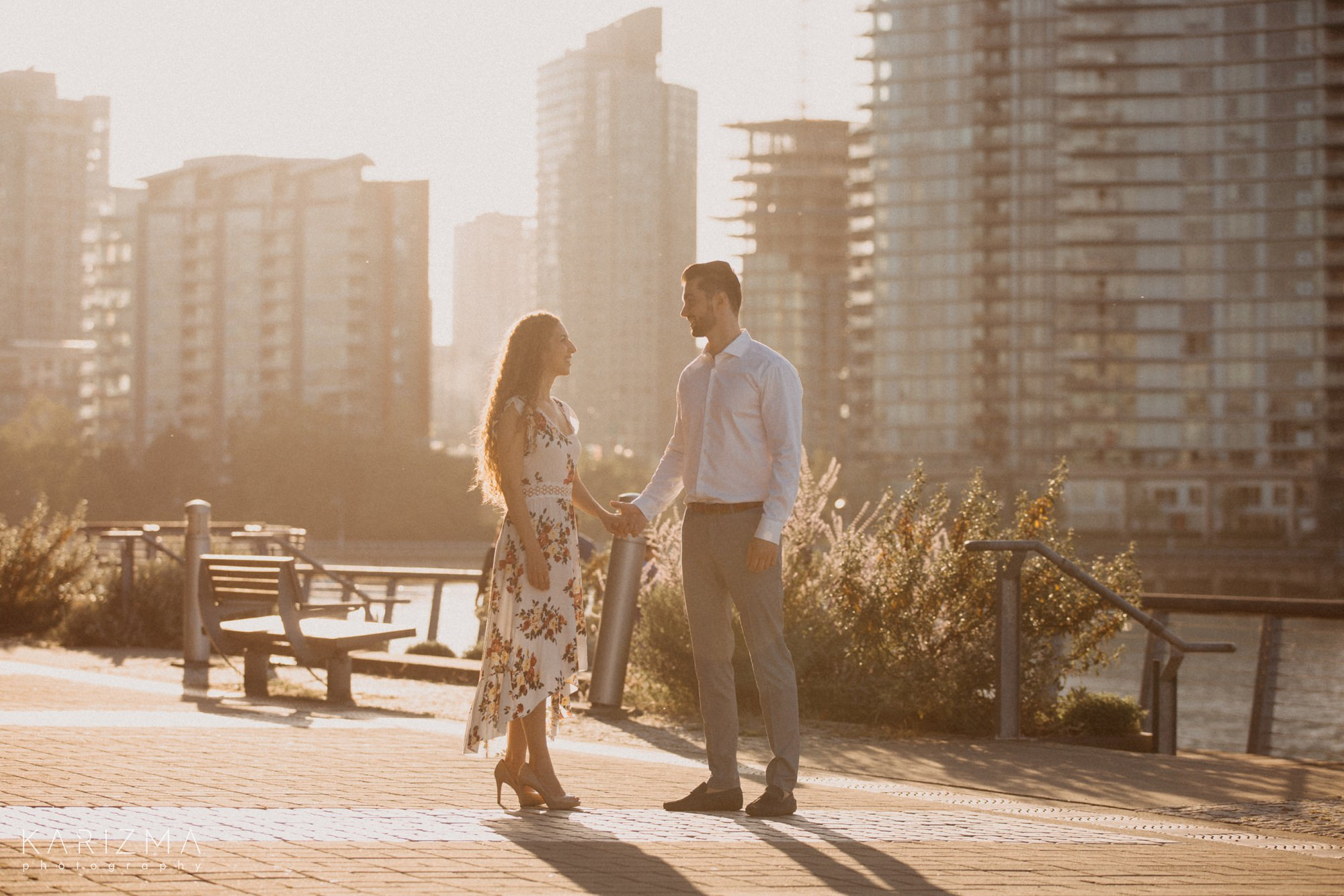 Olympic Village Engagement Session downtown