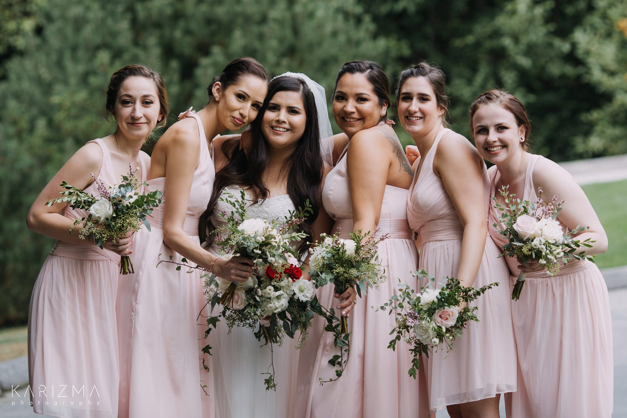 Furry Creek Golf Club Wedding bride and bridesmaids