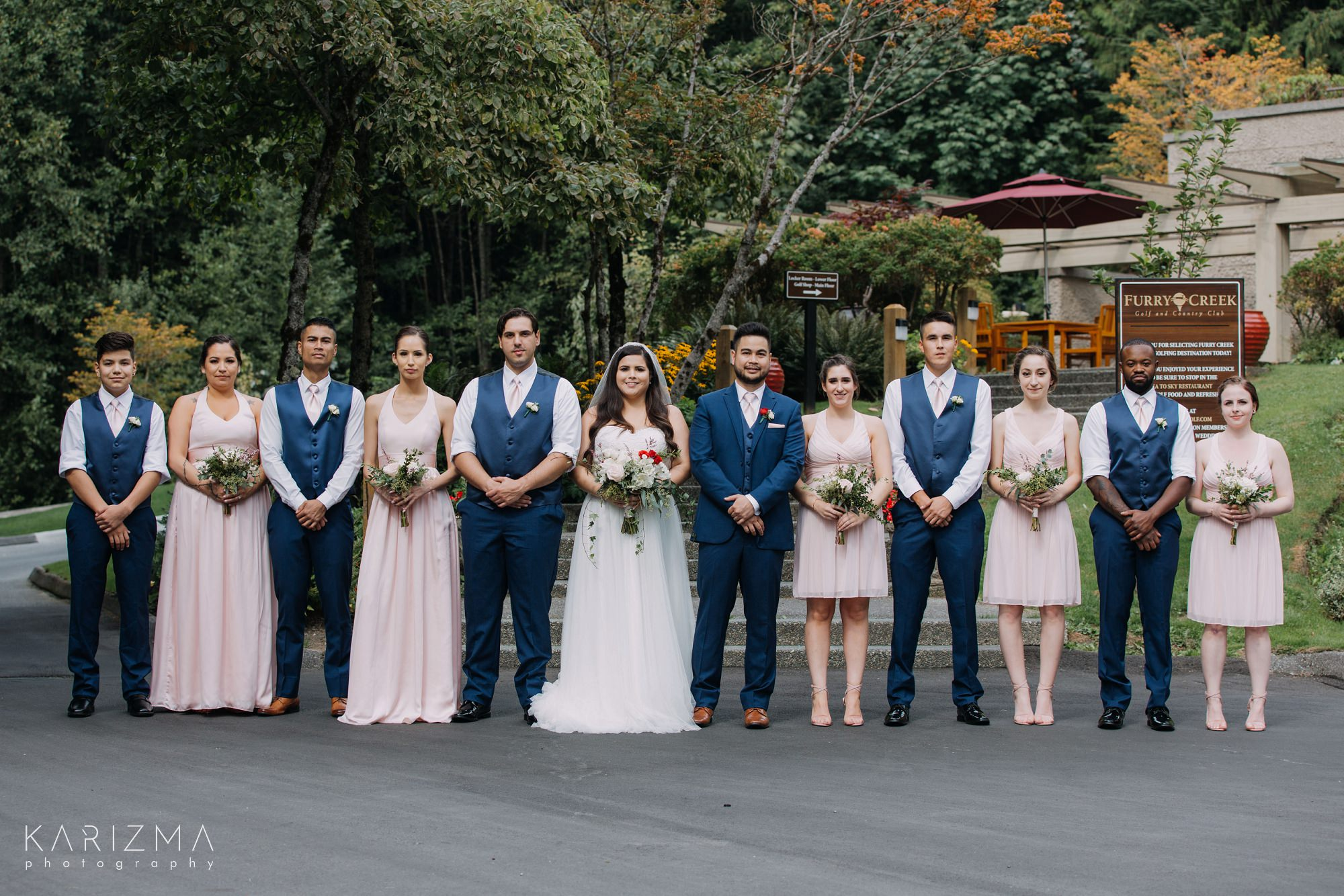 Furry Creek Golf Club Wedding bridal party