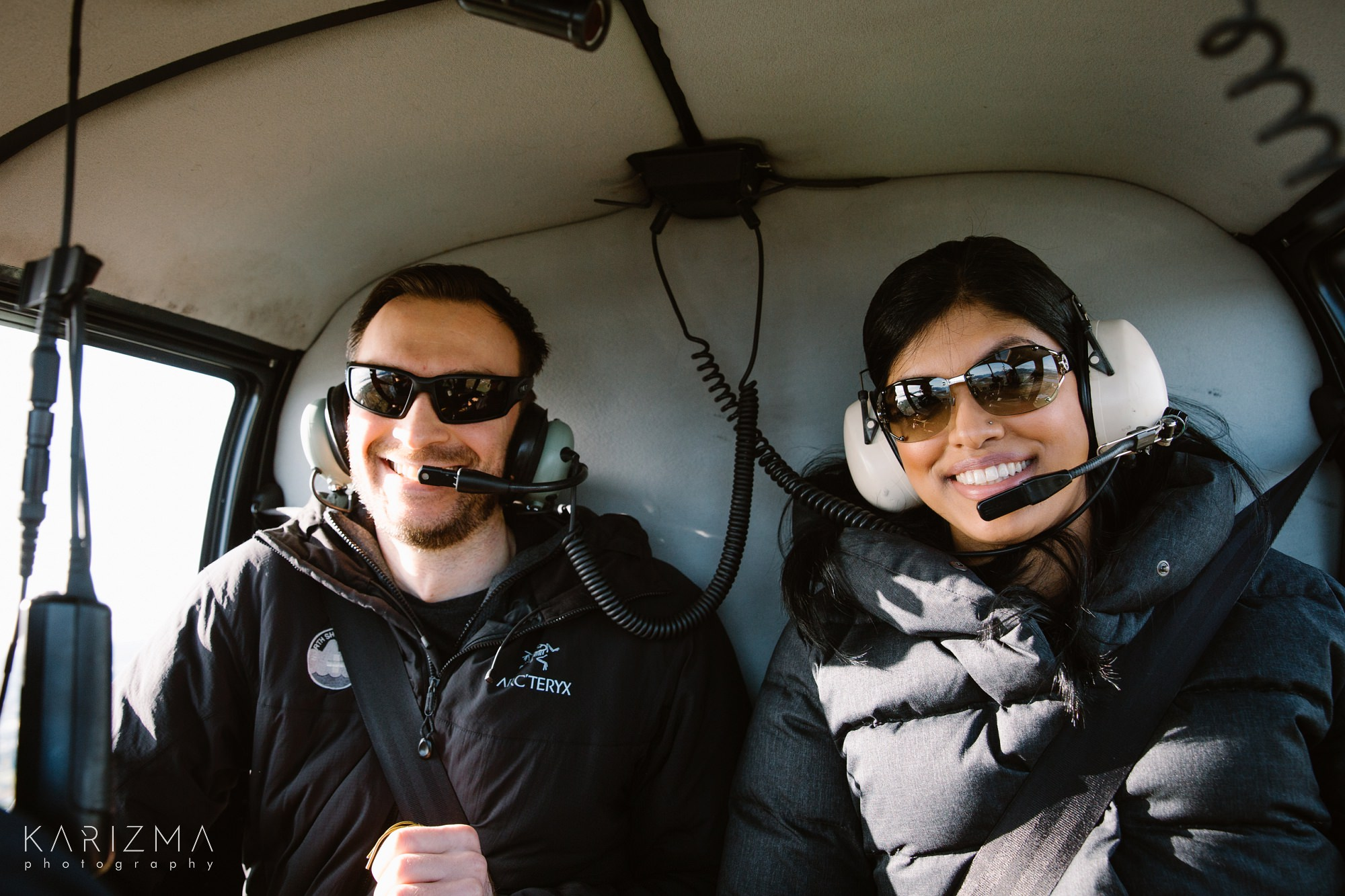 Vancouver Helicopter Engagement couple