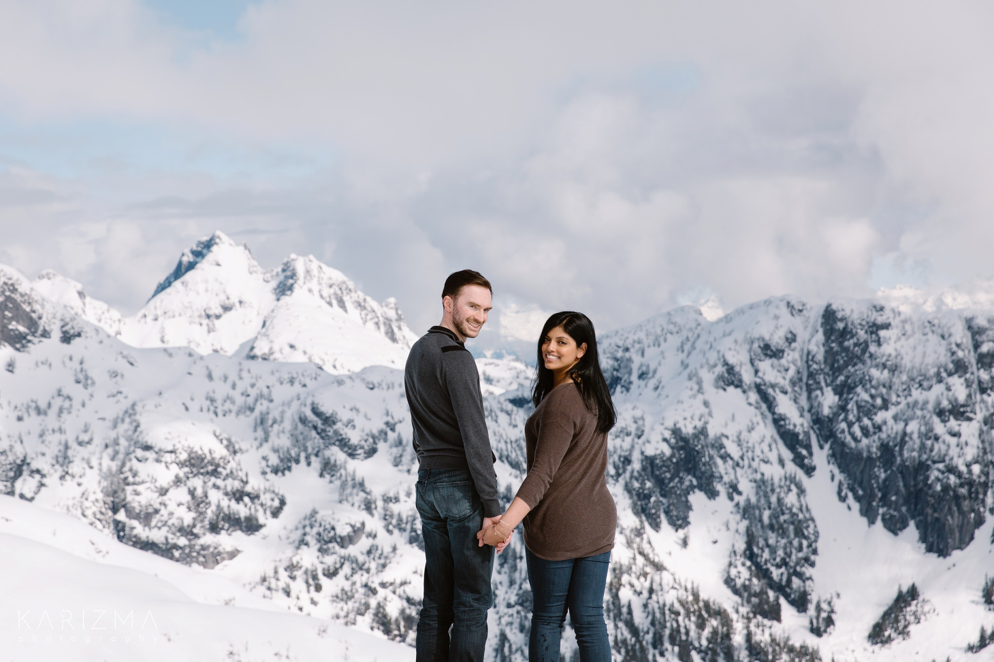 Vancouver Helicopter Engagement mountains backdrop