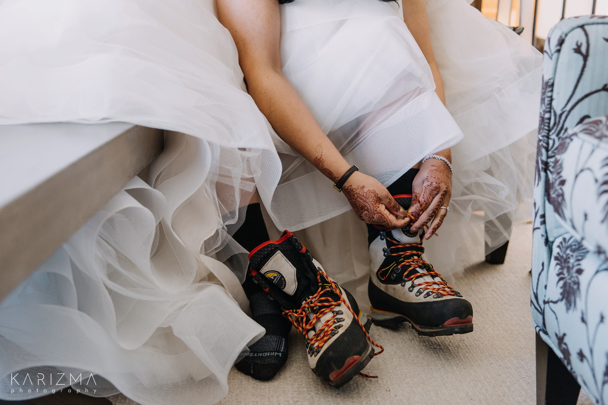 Helicopter Elopement Whistler wedding shoes