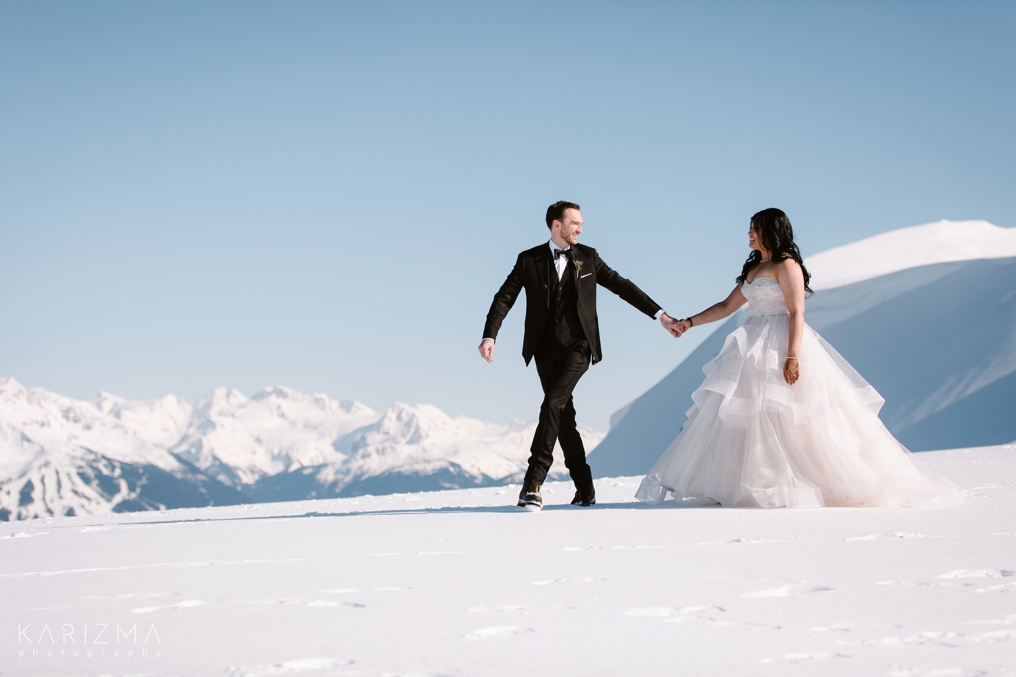Helicopter Elopement Whistler mountains