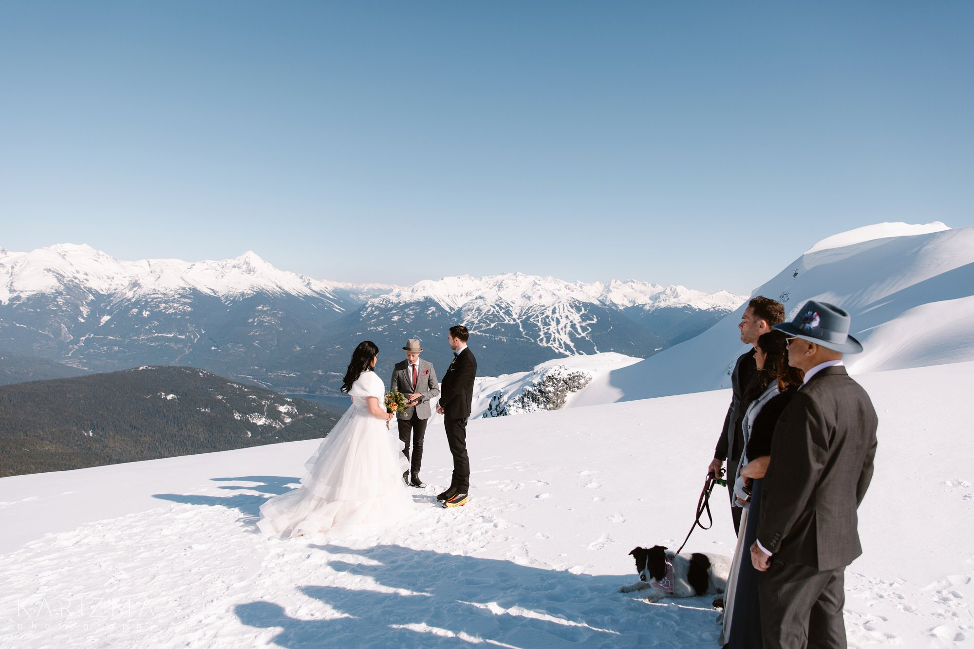 Helicopter Elopement Whistler wedding pastor