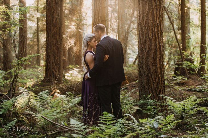 Pacific Spirit Park Engagement session trees