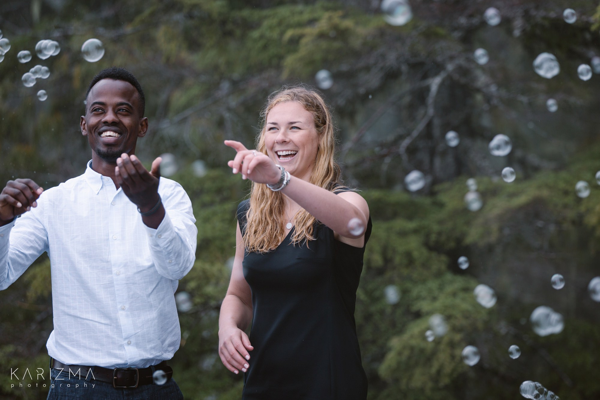 Squamish Engagement Session soap bubbles