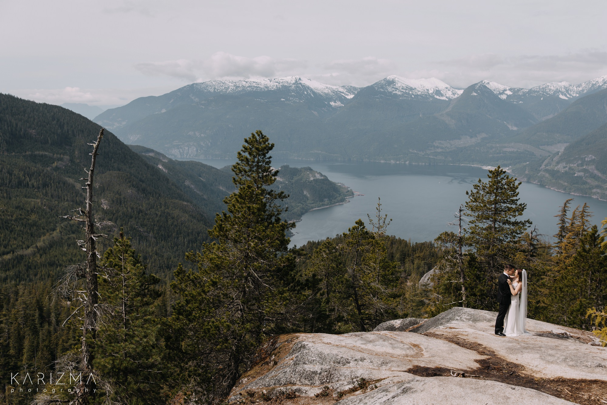 Squamish Wedding Photography mountain views