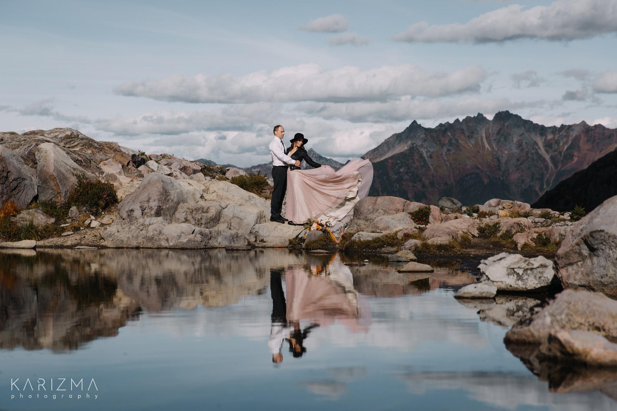 Adventure Session Vancouver mountain elopement