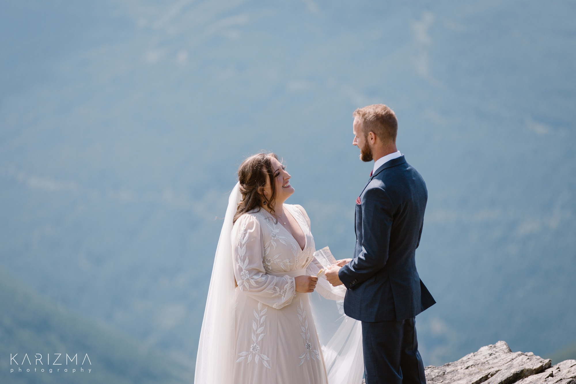 Reading vows at the top of the mountain
