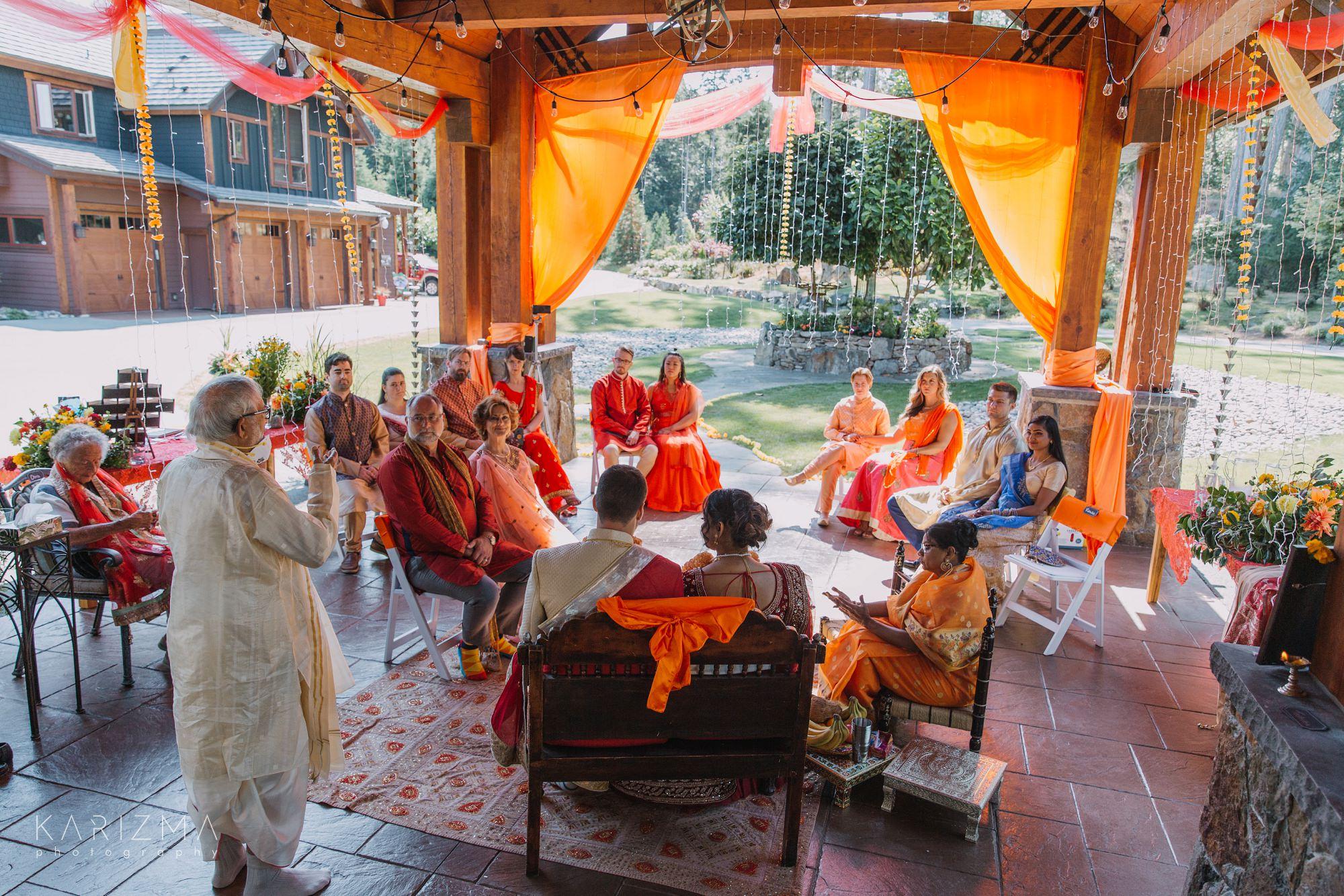 Bowen Island Wedding Indian ceremony