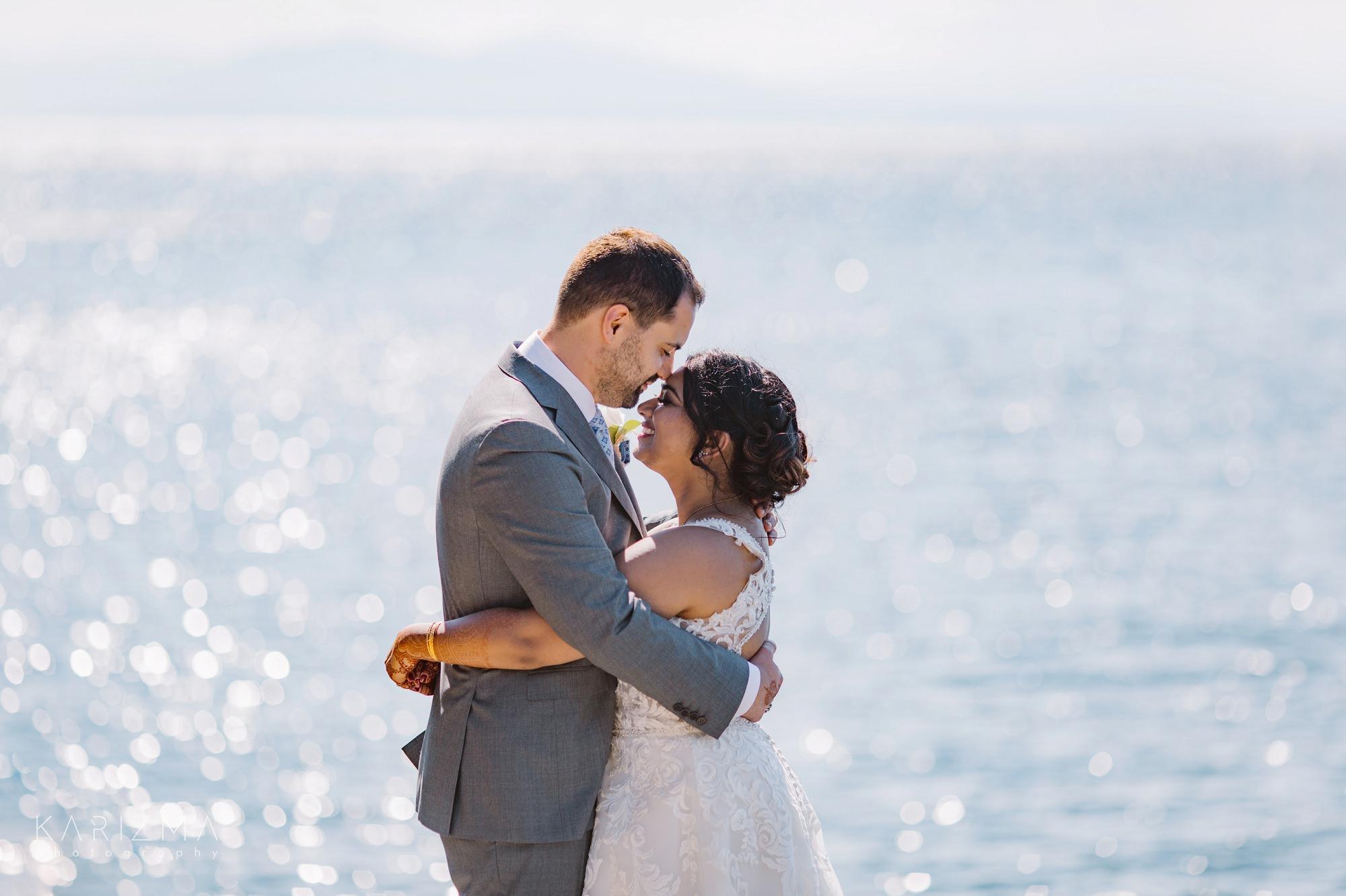 Bowen Island Wedding bride and groom