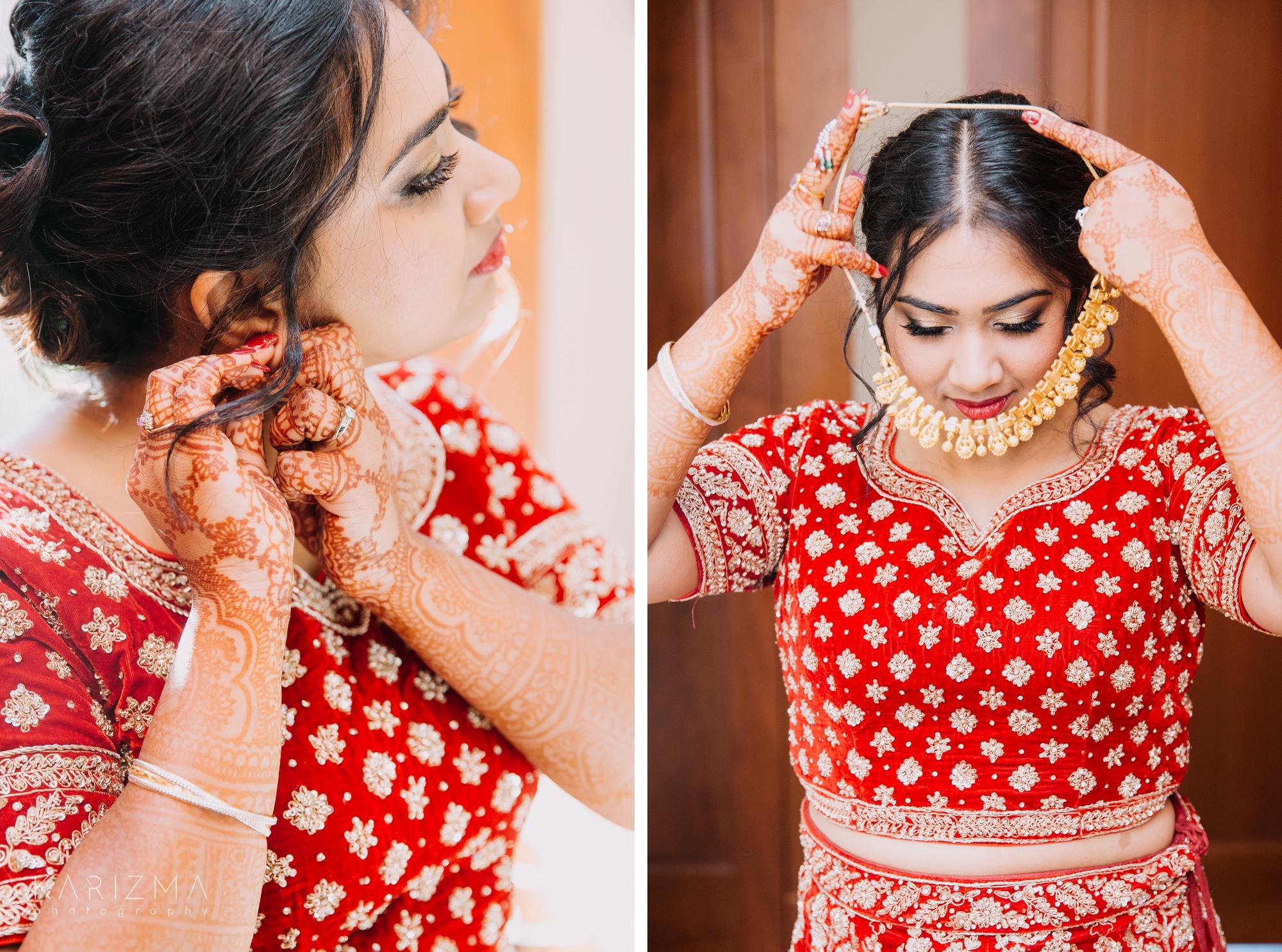 Bowen Island Wedding indian bride getting ready