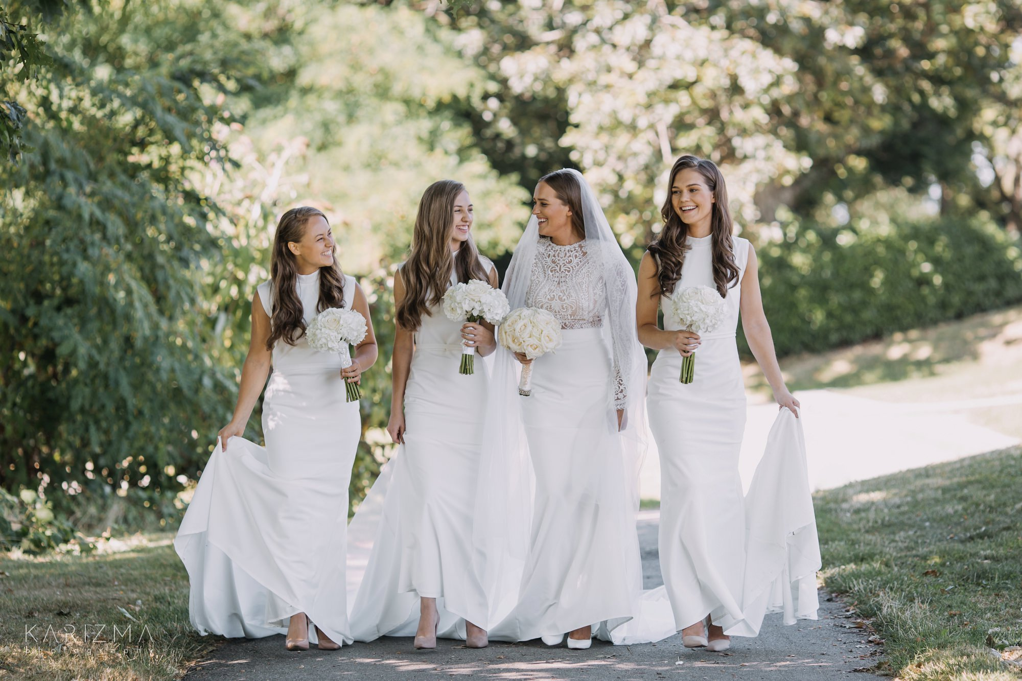 Intimate Vancouver wedding bridal party